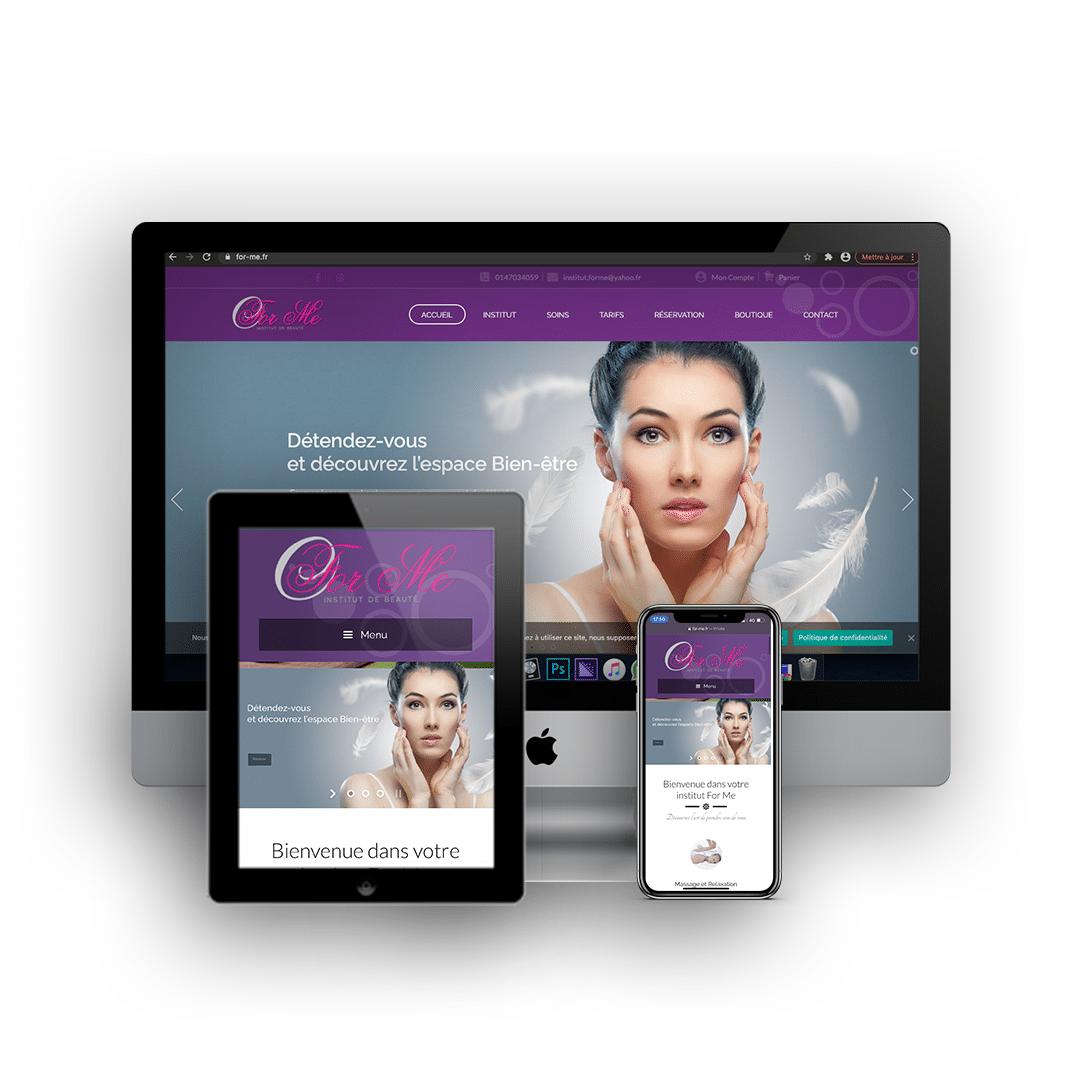 Site e-commerce institut de beauté For Me