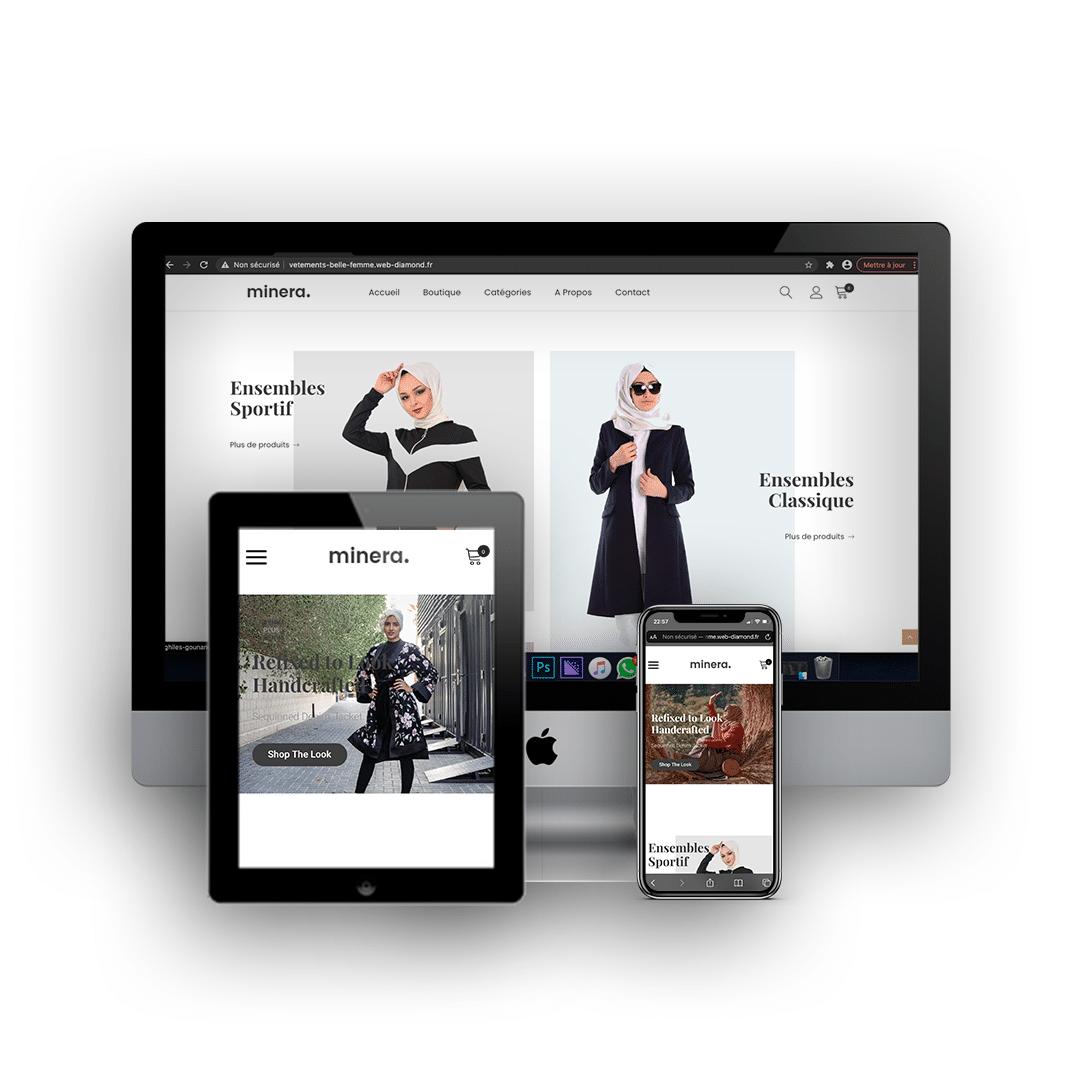 Site e-commerce minera